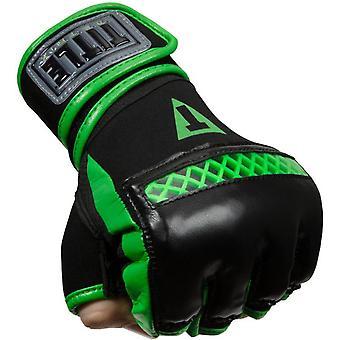 Titel Boxing matrix Quick Glove wraps-zwart/neon groen