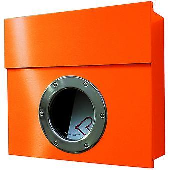 RADIUS-Letterman 1 brievenbus oranje met patrijspoort - 506 een