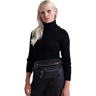 Superdry Croyde Cable Knit Jumper Black 65