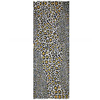 Sciarpa stampa leopardo in misto Cashmere Ahujasons