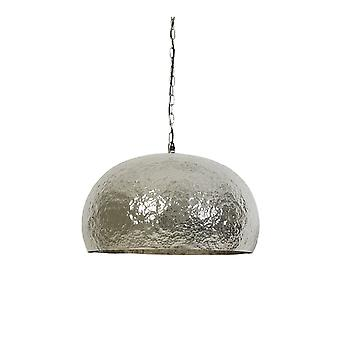 Light & Living Marit Nickel Hammer Finish Hanging Pendant Lamp D57x32cm