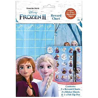 Disney Frozen 2 Wipe-Clean Children's Reward Charts with Stickers & Pen