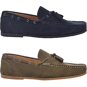 Modiga Soul mens Corbett smart casual slip på tassled loafer skor