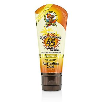 Australian Gold Sheer Coverage Faces Sunscreen Spf 45 With Instant Bronzer - 88ml/3oz