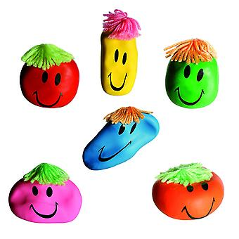 Stress Ball Smiley Fidget Morsomt Ansikt