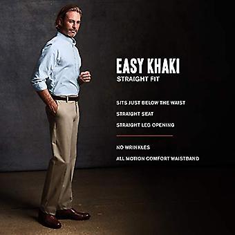 Dockers Men's Straight Fit Easy Khaki Pants D2,, Black (Stretch), Size 38W x 30L