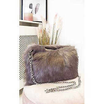 IKRUSH Womens Pollie Faux Fur Shoulder Bag