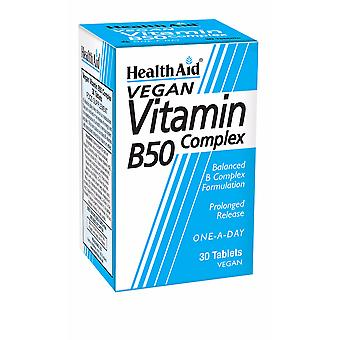 Health Aid Vit B50 Complex - Prolonged Release, 30 Tablets