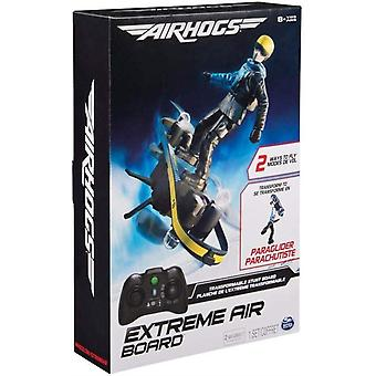 Air Hogs 2-in-1 Extreme Air Board, Transforms from RC Stunt Board to Paraglider for Ages 8+