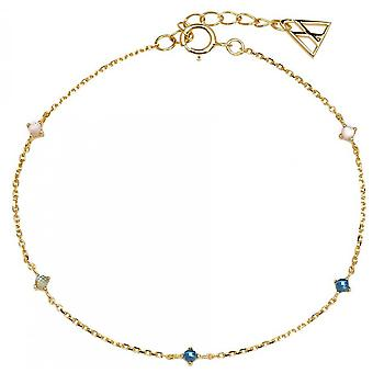 PD Paola PU01-054-U bracelet - NAVY Gold silver bracelet with natural and semi-precious women's stones