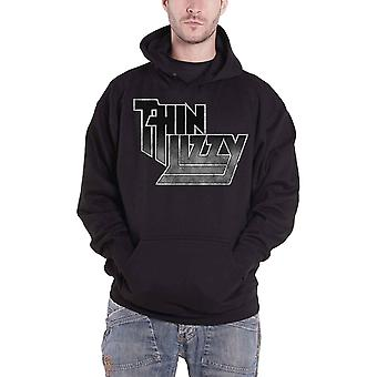 Thin Lizzy Hoodie Classic Band Logo Gradient new Official Mens Black Pullover