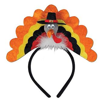 Turkey Headband Party Accessory (1 count) (1/Pkg), Not Applicable, Size Pkg/1