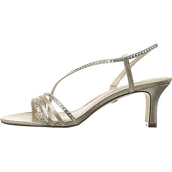 Nina Women's Gerri-Fy Dress Sandal, Taupe Reflective Suedette, 11 M US