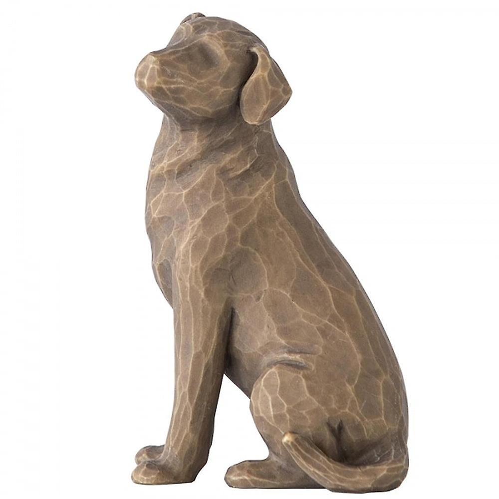 Willow Tree Love My Dog (dark) Figurine