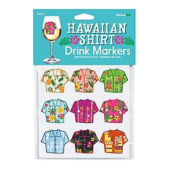 Hawaiian shirt drink markers