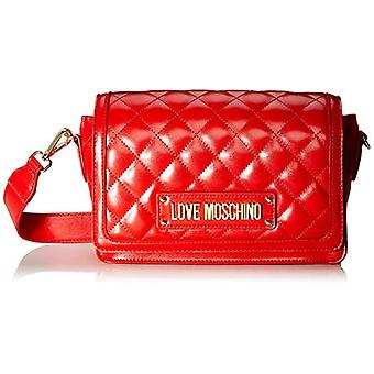 Love Moschino Bag Quilted Nappa Pu Red Women's Strap (Red) 14x8x23 cm (W x H x L)