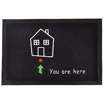 Tapis «vous êtes ici» | Tapis de saleté de piégeage saleté
