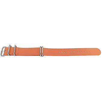 N.a.t.o zulu g10 style watch strap orange 5 ring with stainless buckle 22mm and 24mm