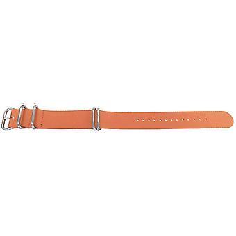 N.a.t.o ज़ुलु g10 शैली घड़ी पट्टा नारंगी 5 अंगूठी स्टेनलेस बकसुआ 22mm और 24mm के साथ