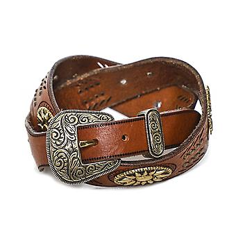 Nanni Studded Leather Cowgirl Belt
