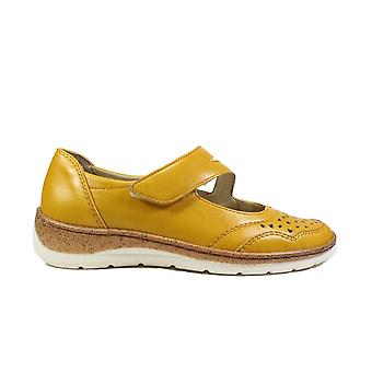 Ara Gil 32636-10 Apricot Yellow Leather Womens Rip Tape Shoes