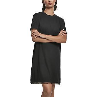 Urban Classics Ladies - Boxy Lace Hem Dress Black
