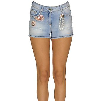 Nenette Ezgl266125 Women's Light Blue Cotton Shorts
