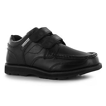 Kangol Kids Egge geschnallt jungen Dual Haken und Schleife Leder Schuhe Slip On