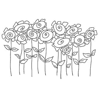 Woodware Clear Singles - Tatty Sunflowers Stamps