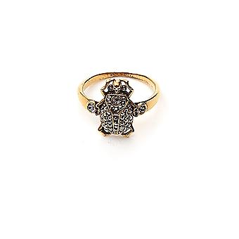 Alexander Mcqueen 589872j160t4120 Women-apos;s Gold Metal Ring