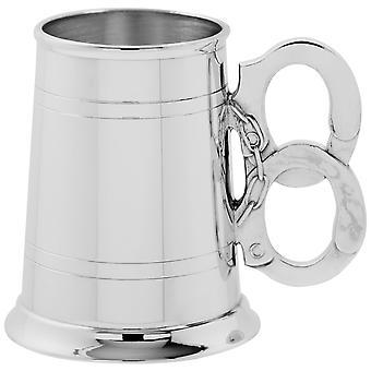 Handcuff Handle Pewter Tankard - 1 Pint