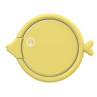 Universal metal fish shape 360 degree rotation finger ring holder desktop stand for mobile phone