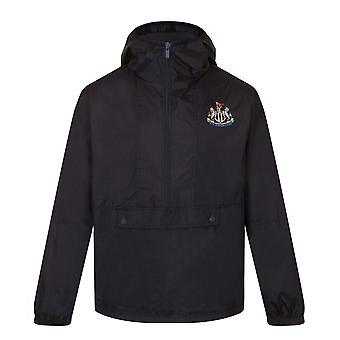 Newcastle United Boys Jacket Shower Windbreaker Half Zip Kids OFFICIAL Gift