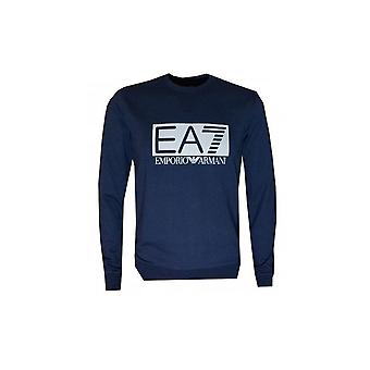 EA7 Men's Navy Blue Sweatshirt