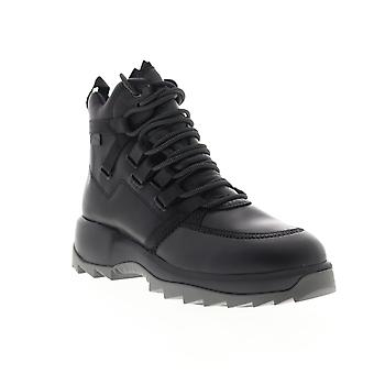 Camper Helix  Womens Black Leather Lace Up Casual Dress Boots