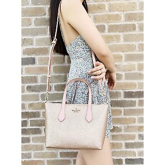 Kate spade joeley glitter ina small satchel crossbody bag wkru6281 rose gold