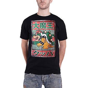 Super Mario T Shirt Bowser Kanji Logo new Official Mens Black
