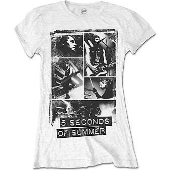 Damer 5 sekunder af Sommeren 5SOS Foto Blokke Officielle Tee T-shirt