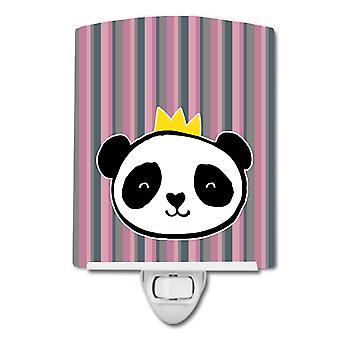 Carolines Aarteita BB7037CNL Panda Bear Queen Keraaminen Yövalo