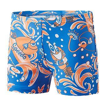 Child's Bathing Costume Speedo 8-05394C248 Blue Orange/5 Years