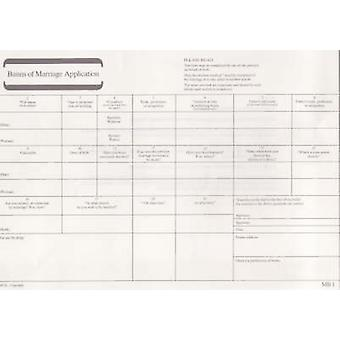 Banns of Marriage Application MB 1 Pack of 50 Forms
