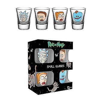 Rick And Morty Faces Shot Glass 4-Pack