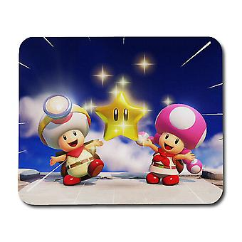 Mario Toad Toadette Star Mouse Pad