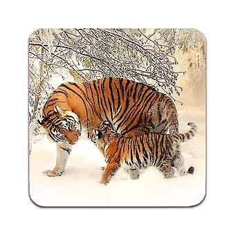 2 ST Tiger Mom And Tiger Cub Coasters
