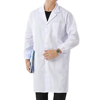 Allthemen Men's Lapel Medical Health Overalls Long Sleeves Gowns