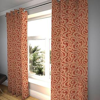 McAlister tekstiler lite blad brent oransje gardiner