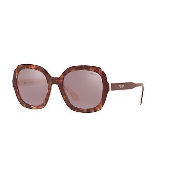 Prada SPR16U CDK214 Pink Havana-Top Bordeaux Ivory/Light Violet Flash Silver ** Sunglasses