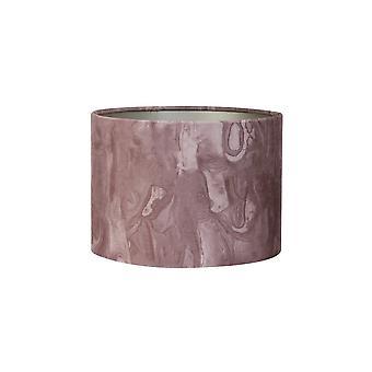 Licht & Living Zylinder Schatten 25x25x18cm Marmor Rosa