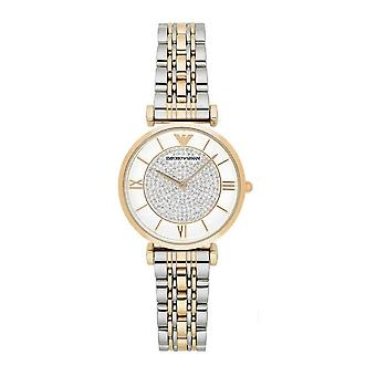 Armani Watches Ar8031 Gold & Silver Stainless Steel Ladies Watch