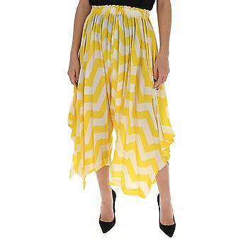 Issey Miyake Im07ff68252 Women's Yellow Polyester Skirt
